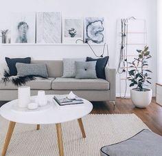 Living room décor ideas | Grey décor accents | Sourced via Rebecca ...