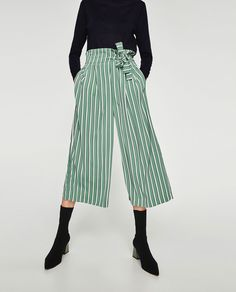 Image 2 of CROPPED TROUSERS WITH SIDE TIE from Zara