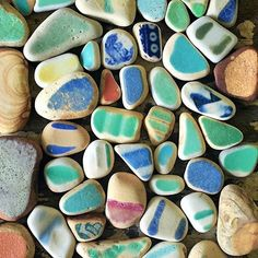 Yay for ((day 10)) of the #beachphotocontest !! Sea Pottery is one of my favorite things to discover on the beach. I really love the tiny pieces with just a bit of color left on them.