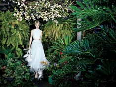 Botanical Spring--Photographed on location at a greenhouse in Pottersville, New Jersey, the spring-summer 2014 campaign from Alice + Olivia takes on a whim