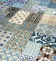 Parador has introduced a beautiful collage inspired from Spanish tiles as laminate flooring.