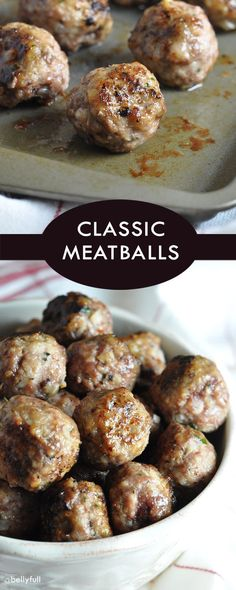 Meatballs - A classic, foolproof meatball recipe that will be your go-to. Makes so you can freeze a bunch a -Classic Meatballs - A classic, foolproof meatball recipe that will be your go-to. Makes so you can freeze a bunch a - Best Italian Meatball Recipe, Classic Meatball Recipe, Italian Recipes, Italian Meatballs, Classic Recipe, Spagetti And Meatball Recipe, Italian Sauces, Meatball Bake, Meatball Recipes