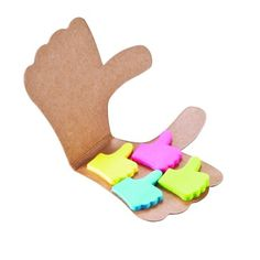 Like it post-it notes. Paper adhesive notes in 4 colours: pink, green, blue and yellow all attached in a cardboard thumb. Post It Pad, Fb Like, Stationery Pens, Office Items, Fun At Work, Stickers, Sticky Notes, Corporate Gifts, Writing