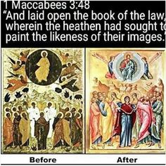 And there are so many examples ... not just this one icon  painting.