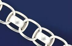 A silver bracelet, by Georg Jensen