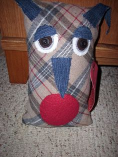 Softie  Horace the horned owl by JulieAnnMade on Etsy,