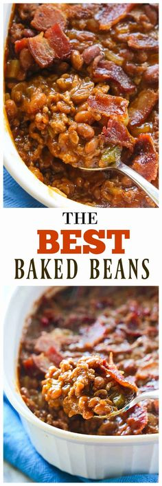 Best Baked Beans The Best Baked Beans - hearty and thick and always a winner. the-girl-who-ate-The Best Baked Beans - hearty and thick and always a winner. the-girl-who-ate- Best Baked Beans, Homemade Baked Beans, Baked Bean Recipes, Homemade Bbq, Beans Recipes, Side Dish Recipes, New Recipes, Cooking Recipes, Favorite Recipes