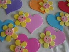 Flor corazon #gomaevamanualidades