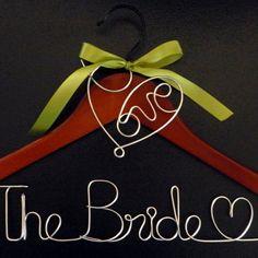 Personalized Wedding Hanger/ Brides Hanger/ Bride/ di OneBluShoe, $15.99