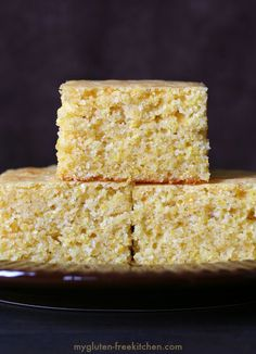 The Best Gluten-free Sweet Cornbread Recipe. Tried and true recipe we've used for many years! *Sub Earth Balance for butter to make dairy-free Gluten Free Cornbread, Sweet Cornbread, Gluten Free Muffins, Gluten Free Sweets, Gluten Free Cooking, Gluten Free Recipes, Gf Recipes, Healthy Recipes, Recipes