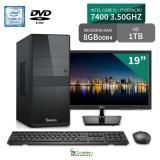 "Computador 3green Select Intel Core I5 7400 8GB 1TB Dvd Monitor 19"" LG 20M37A - 3green technology"