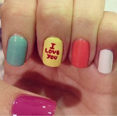 I love you in nails #nails #iloveyou