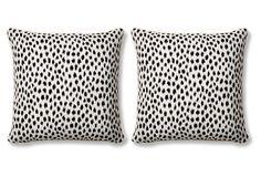 S/2 Agra 20x20 Sunbrella Pillows, Black