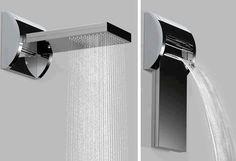 Waterfall Shower by Bossini - http://www.differentdesign.it/2013/03/25/waterfall-shower-bybossini/