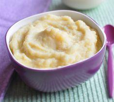Purée au fromage toute simple pour bébé dès 6 mois ! Plus de recettes pour bébé sur www.enviedebienmanger.fr/idees-recettes/recettes-pour-bebe