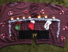 Couples ugly Christmas sweater.