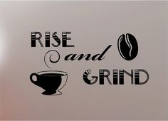 GRIND COFFEE quote wall art sticker vinyl KITCHEN | eBay