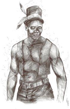 Billedresultat for samedi drawing Priest Costume, Voodoo Priest, Baron Samedi, Halloween Costumes, Statue, Drawings, Inspiration, Art, Simple