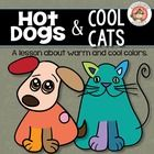 """Use student's love of dogs and cats to teach them about warm and cool colors.  Because who doesn't love a """"cool cat""""? And when they hear about the ..."""