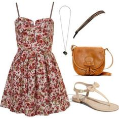 This is a cute outfit for the spring!