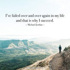 """""""I've failed over and over again in my life and that is why I succeed."""" -Michael Jordan https://michaelhyatt.com/shareable-images"""