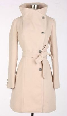 Beige Wool Jacket Women Coat Pashm women dress by fashiondress6