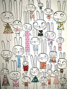 bunnies by Leigh Hodgkinson {now with permalink}