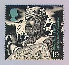 Hah! I didn't know they had a stamp of my great grandpa! Robert Bruce KING OF SCOTLAND was my 21st great grandfather.