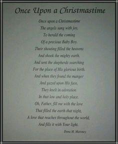 Once Upon a Christmastime ~ Dona M. Maroney #Christmas #Poem