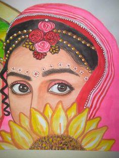 Radha Krishna Sketch, Krishna Art, Radhe Krishna, Pencil Art Drawings, Art Drawings Sketches, Easy Drawings, Rangoli Ideas, Easy Rangoli, Side Face Drawing