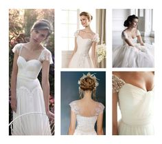 Inspirations for wedding dress: cap sleeves