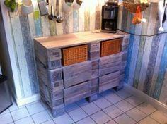 Schrank aus Europaletten - Küchenschrank, Palettenversion - Palettenbett und Palettenmöbel : Palettenbett und Palettenmöbel