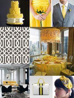 Grey & Yellow Wedding Ideas. Wedding Directory-UK {WDUK}