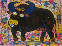 Buffalo Art, Buy Art Online, Art Store, Art For Sale, Watercolor, Abstract, Painting, Black, Pen And Wash
