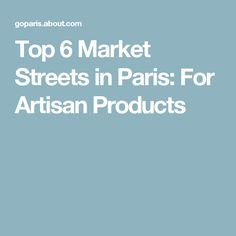Top 6 Market Streets