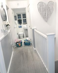 hallway decorating 364299057357141144 - Mrs Hinch reveals the best way to clean every room in your home – and exactly what to use – Mirror Online Source by cauriejosina Grey Hallway, Hallway Ideas Entrance Narrow, Modern Hallway, Entrance Hall Decor, Narrow Hallway Decorating, Hallway Paint, Wainscoting Hallway, Upstairs Hallway, Entryway