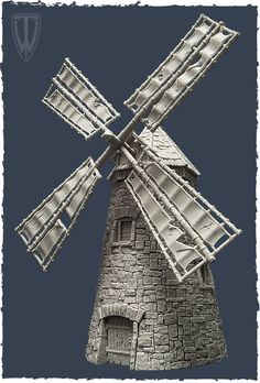 Resin 28mm Windmill. VERY detailed