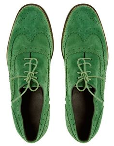 I have a thing for wingtips. And the color green.