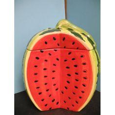Amazon.com: 3D Watermelon Cookie Jar Storage Kitchen Decor Fruit.: Kitchen U0026