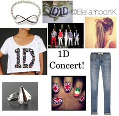 """1D Concert!!!!"" by one-direction-outfits1 ❤ liked on Polyvore"