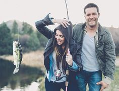 Engagement photo inspiration // fishing + camping + mountains + outdoors