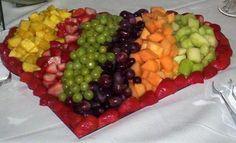 wedding fruit displays | Fruit Display Heart