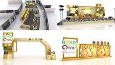 กรมพัฒนาชุมชน ภาคกลางตอนบน2 งาน ROADSHOW OTOP แนวคิดพัฒนาแหล่งท่องเที่ยววิถีไทย สัมผัสวิถีชีวิต ส่งเสริมภูมิปัญญาท้องถิ่น Stage Set Design, Event Design, Entry Gates, Entrance, Arch Gate, Exhibition Booth Design, Kiosk, Corporate Events, Layout