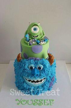 Monsters Inc. Cake Monster Inc Cakes, Monsters Inc, Beautiful Cakes, Fondant, Sweet Treats, Birthday Cake, Desserts, Sully, Tutorials