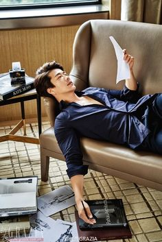 Kwon Sang Woo Covers Chinese Grazia | Couch Kimchi