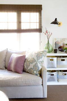 Soft color palette in living room