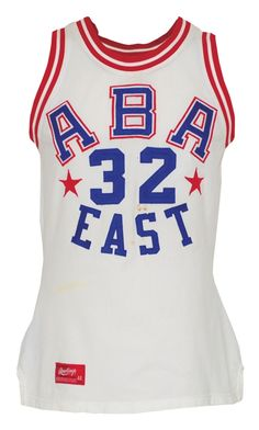 """153e7db5a 1974 Julius """"Dr. J"""" Erving ABA Eastern Conference All-Stars Game-"""