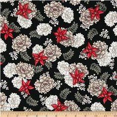 Nobuko-Believe Tossed Floral Black