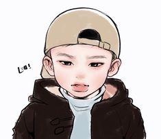 Stray Kids Seungmin, Felix Stray Kids, Sparkle Wallpaper, Kids Fans, Dibujos Cute, Anime Child, Art Poses, Kpop Fanart, Boy Art