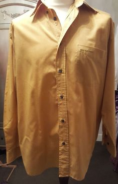 3f0d19f56f16 Firetrap Men s Mustard Long Sleeve Shirt